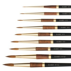 isabey watercolour pointed round