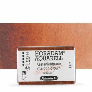 horadam maroon brown watercolour pan