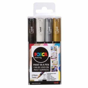 posca pen set mono tones 1m